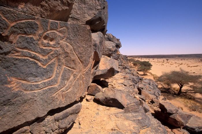 Twareg desert footprints