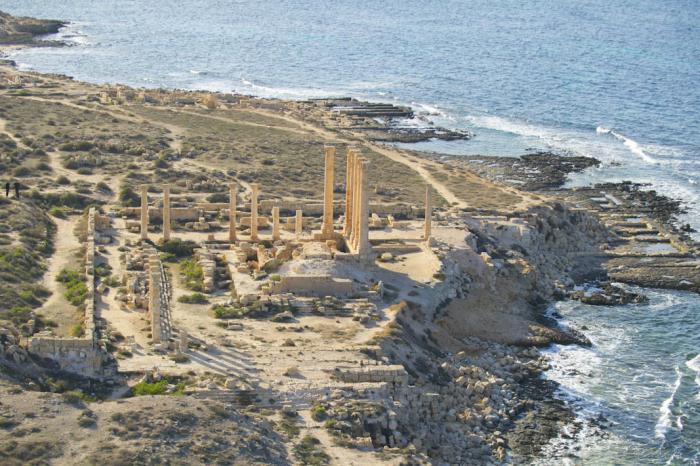 Coastal route from Tunisia to Egypt